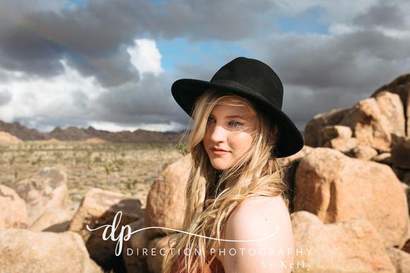 Senior photography session at Joshua Tree National Park