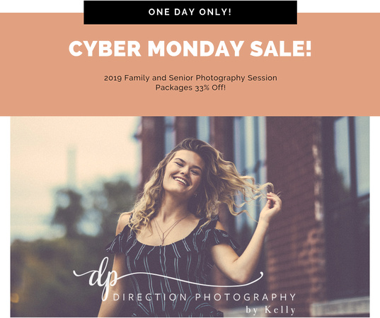 Cyber Monday Sale for Family and Senior Photography